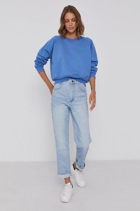 Lee - Bluza bawełniana niebieski