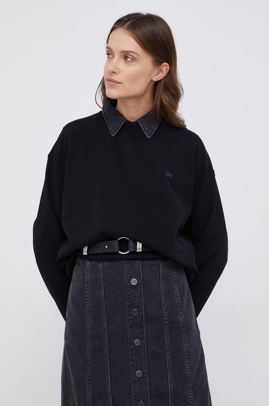 Lee - Bluza bawełniana czarny