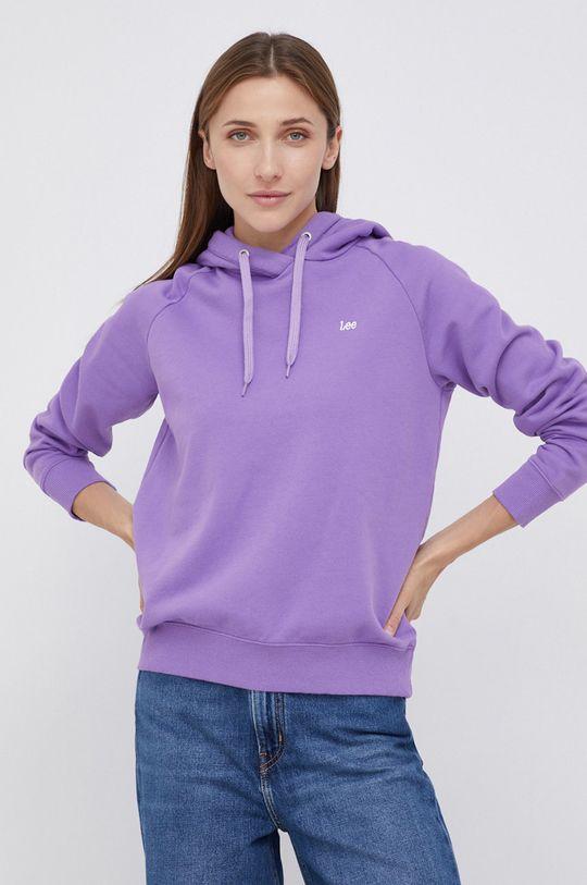 Lee - Bluza bawełniana fioletowy