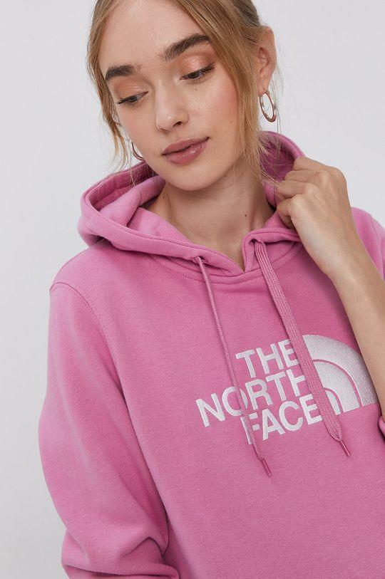 růžová The North Face - Bavlněná mikina Dámský