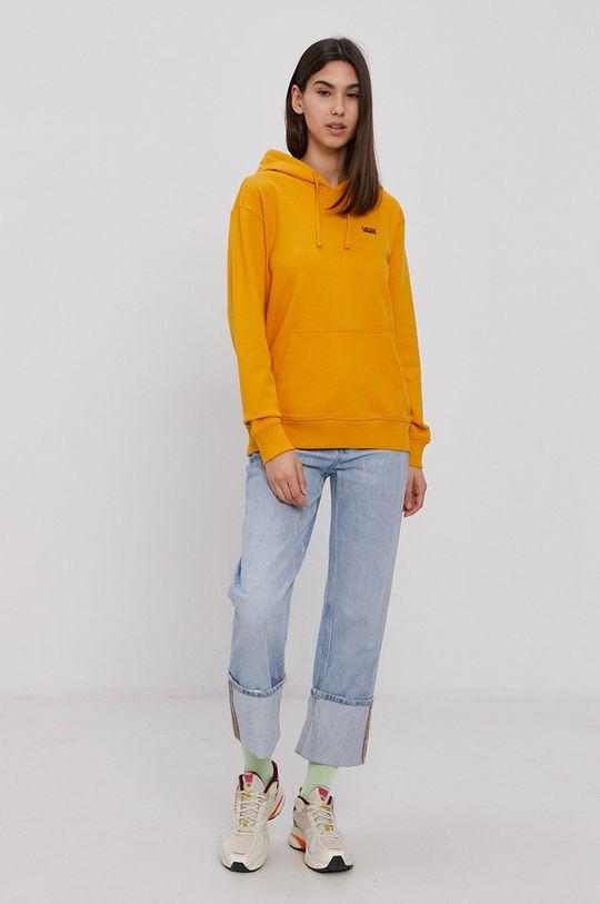 Vans - Bluza bawełniana ciepły oliwkowy