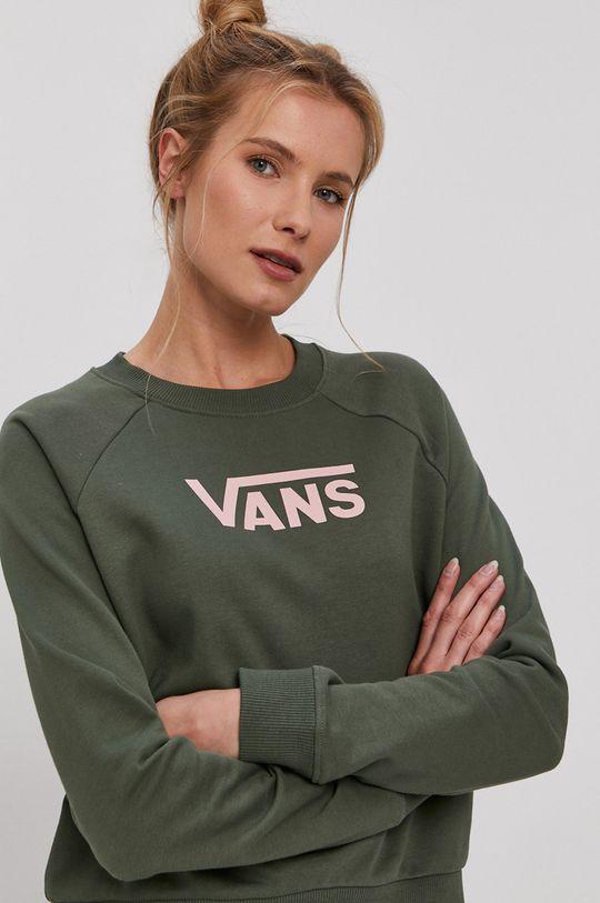 zelená Vans - Bavlněná mikina Dámský