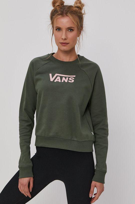Vans - Bavlněná mikina zelená