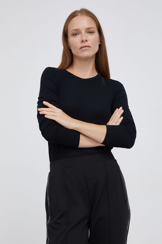 černá Drykorn - Tričko s dlouhým rukávem Bajari