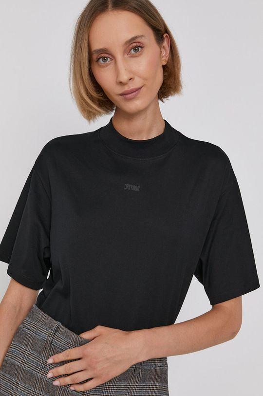 czarny Drykorn - T-shirt bawełniany Kalia Damski