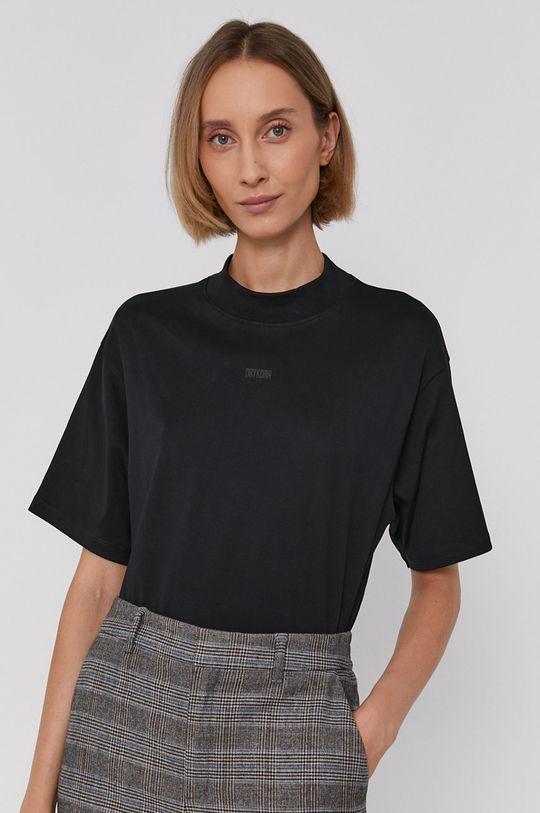 czarny Drykorn - T-shirt bawełniany Kalia
