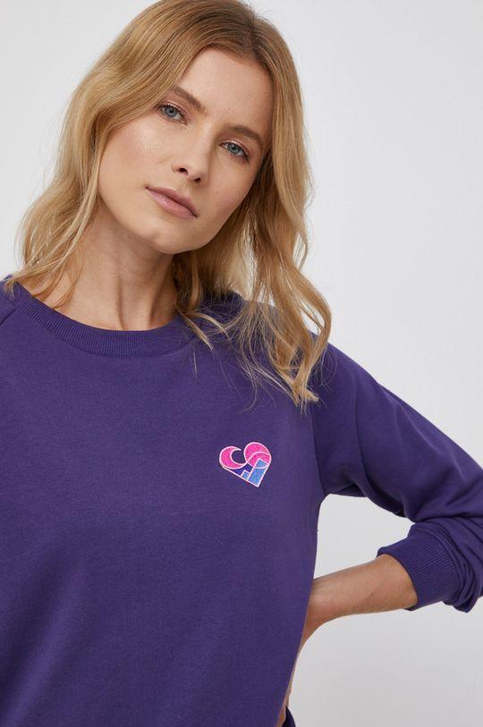 ciemny fioletowy Femi Stories - Bluza bawełniana Beret