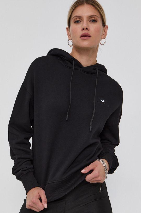 czarny Chiara Ferragni - Bluza bawełniana Logo Basic Damski