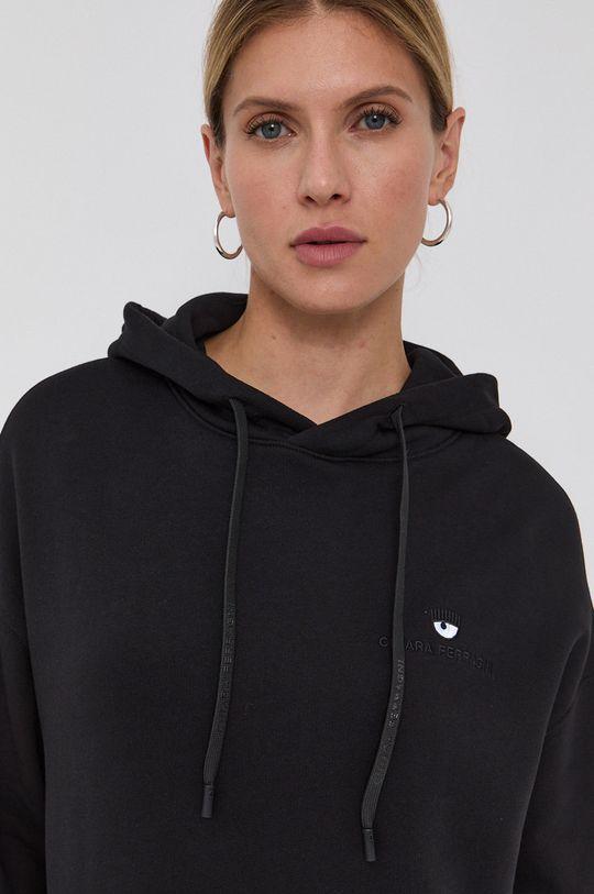 czarny Chiara Ferragni - Bluza bawełniana Logo Basic