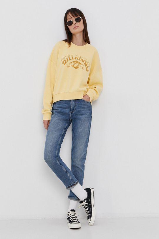 Billabong - Bavlněná mikina žlutá