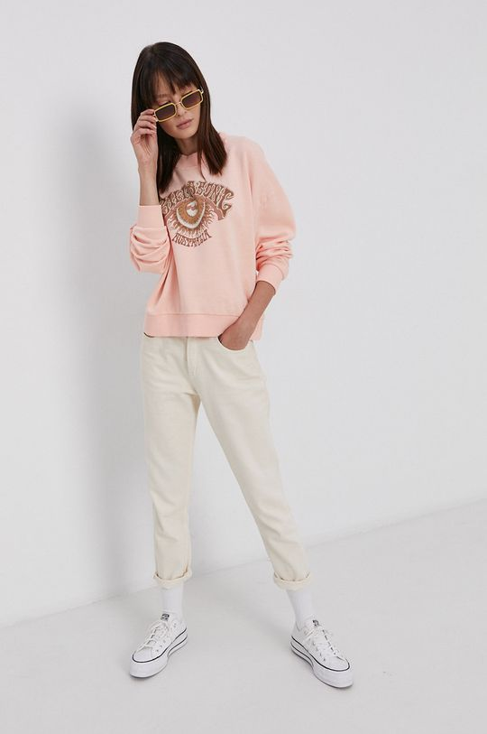 pastelowy różowy Billabong - Bluza bawełniana Damski