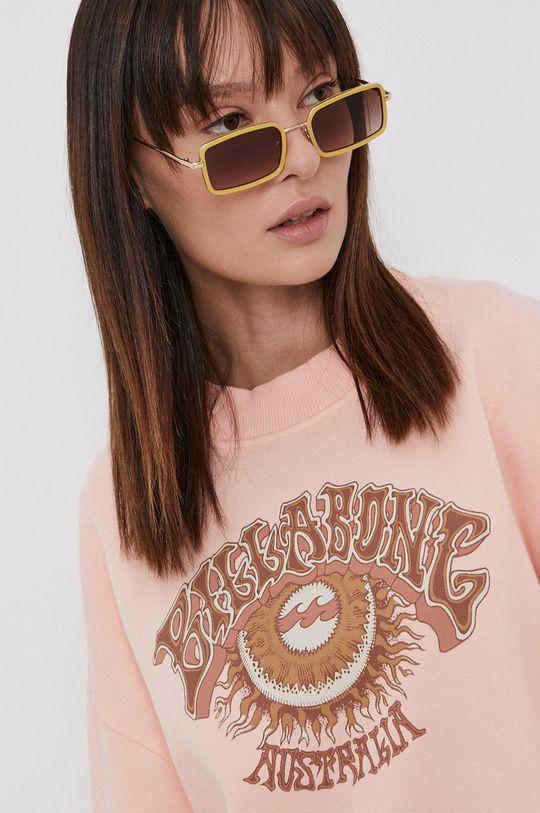 pastelowy różowy Billabong - Bluza bawełniana