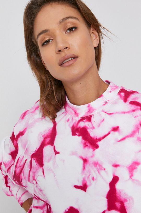 fuksja Calvin Klein Jeans - Bluza bawełniana