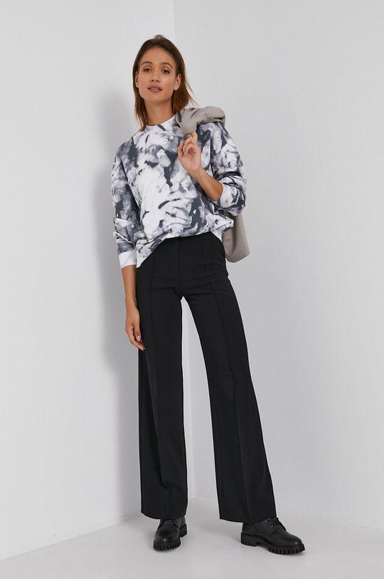 szary Calvin Klein Jeans - Bluza bawełniana Damski