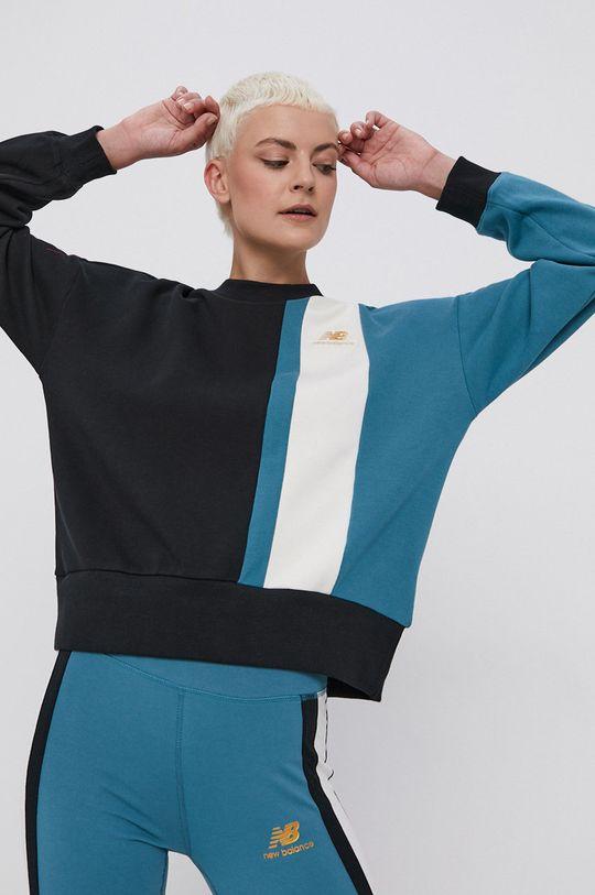 czarny New Balance - Bluza bawełniana Damski