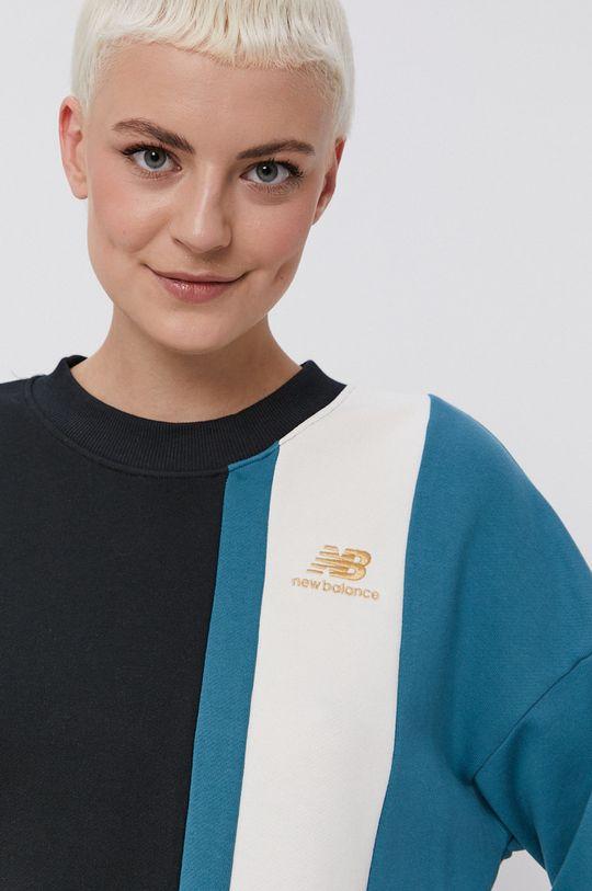 czarny New Balance - Bluza bawełniana