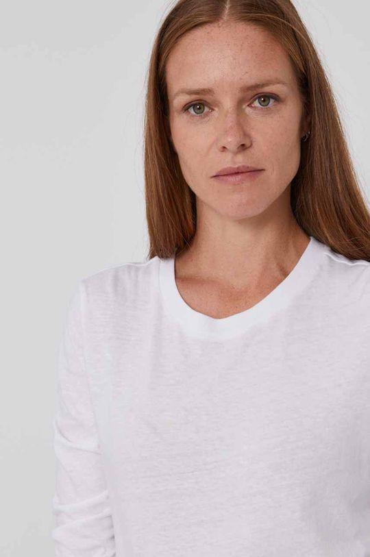 biały GAP - Longsleeve bawełniany
