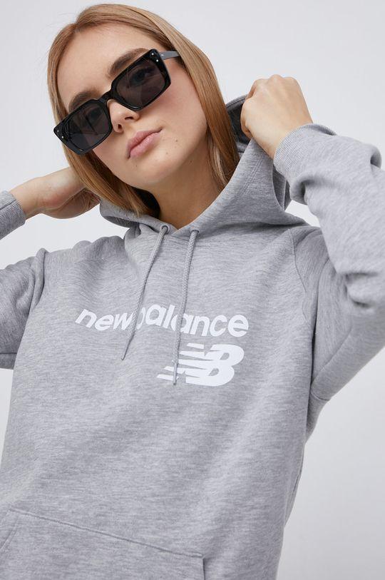 šedá New Balance - Mikina Dámský