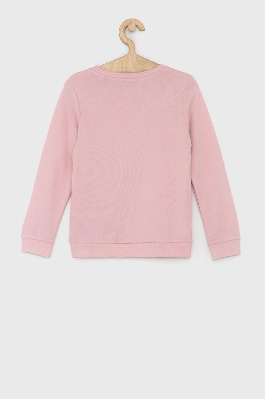 Guess - Dětská bavlněná mikina růžová