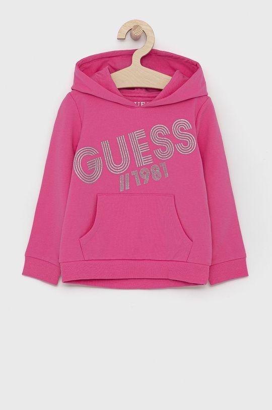 růžová Guess - Dětská mikina Dívčí