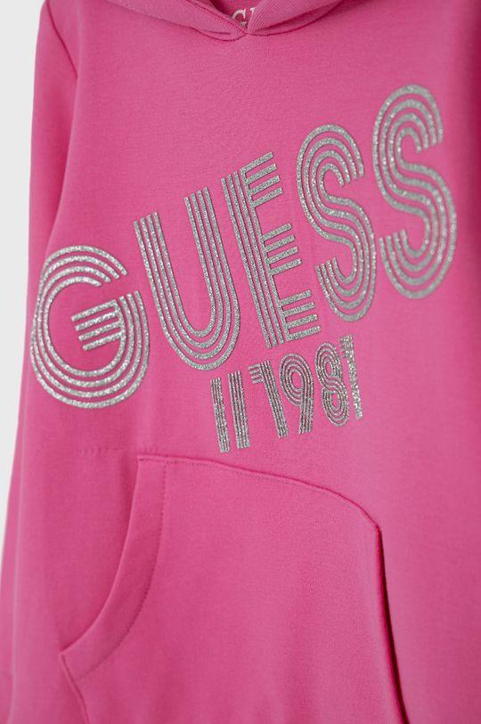 Guess - Dětská mikina růžová