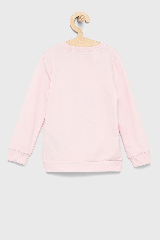 Guess - Bluza dziecięca pastelowy różowy