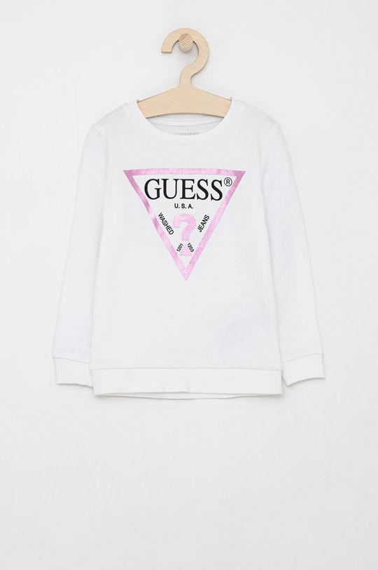 bílá Guess - Dětská bavlněná mikina Dívčí