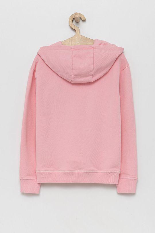 Guess - Bluza bawełniana dziecięca różowy