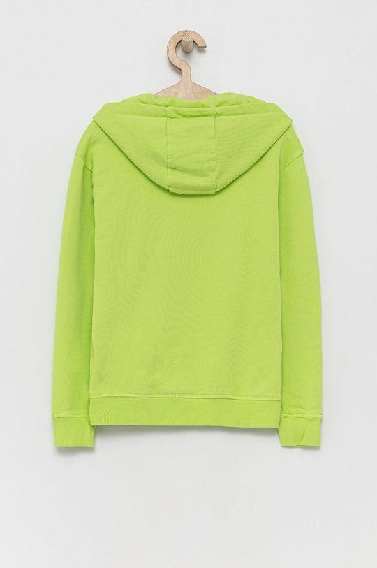 Guess - Bluza bawełniana dziecięca żółto - zielony