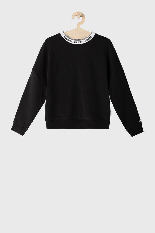 czarny Calvin Klein Jeans - Bluza bawełniana dziecięca Dziewczęcy