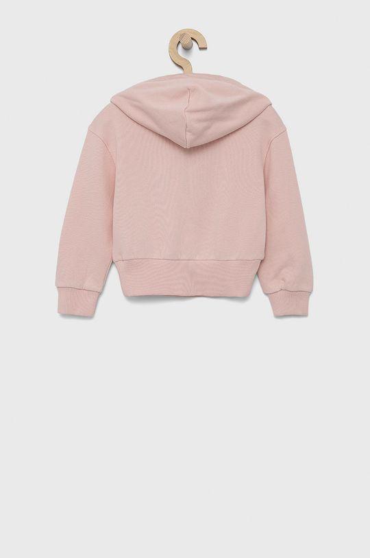 Tommy Hilfiger - Bluza bawełniana dziecięca różowy