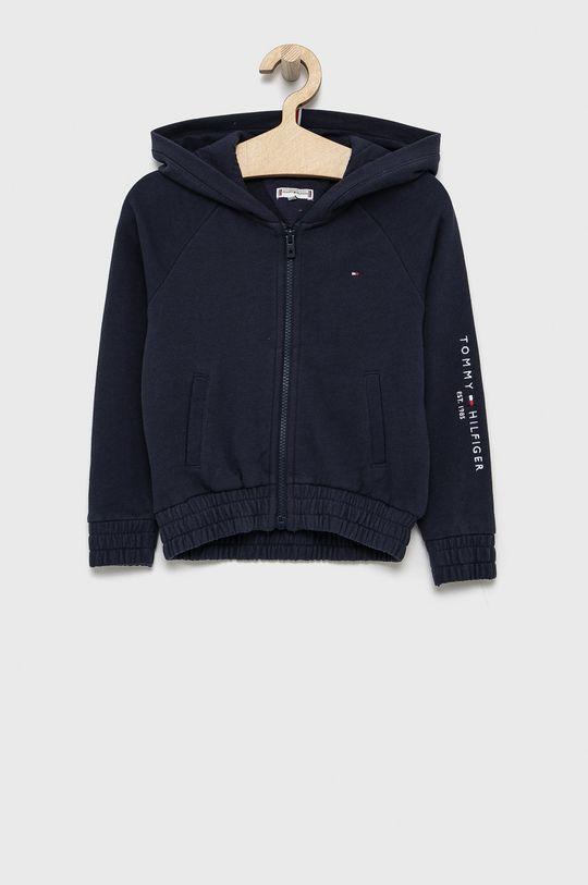 granatowy Tommy Hilfiger - Bluza bawełniana dziecięca Dziewczęcy