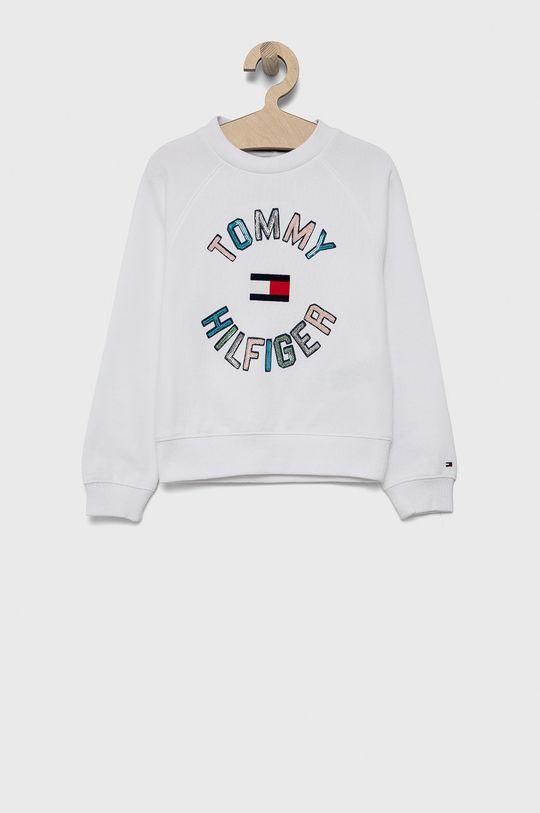 biały Tommy Hilfiger - Bluza bawełniana dziecięca Dziewczęcy