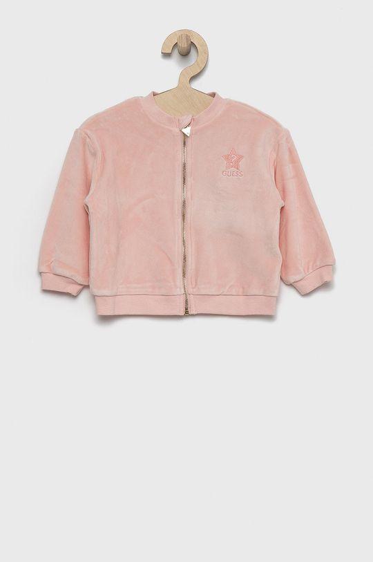 różowy Guess - Bluza dziecięca Dziewczęcy