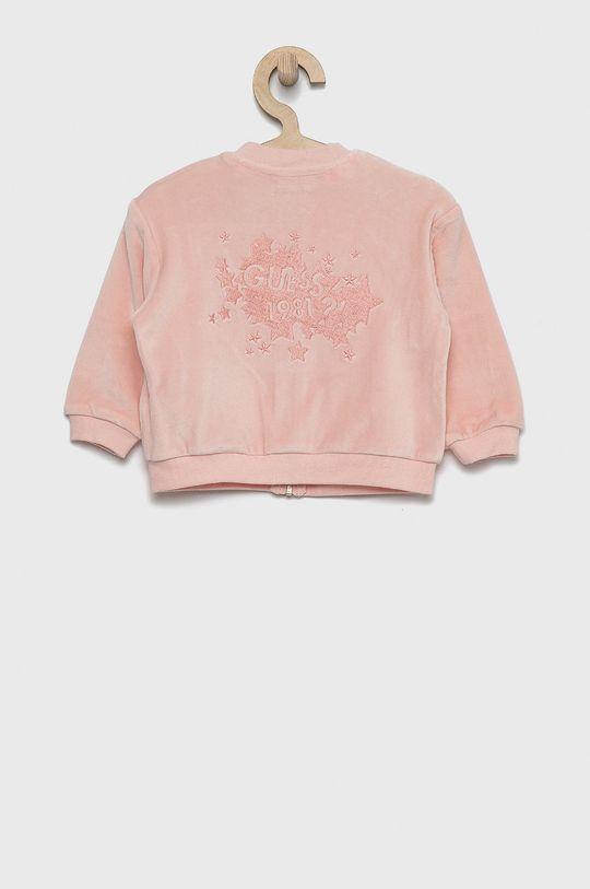 Guess - Bluza dziecięca różowy
