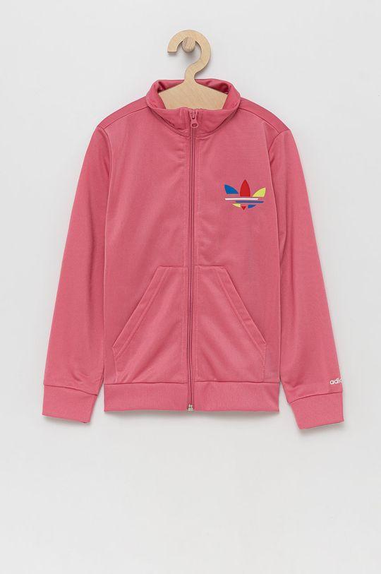 różowy adidas Originals - Bluza dziecięca Dziewczęcy