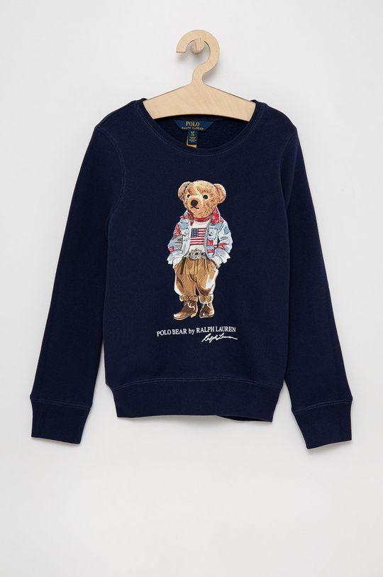 granatowy Polo Ralph Lauren - Bluza dziecięca Dziewczęcy