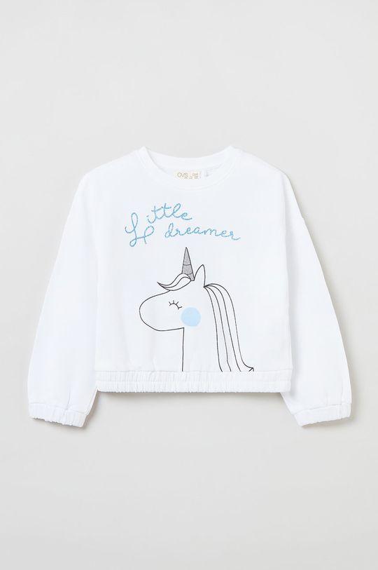 biały OVS - Bluza bawełniana dziecięca Dziewczęcy