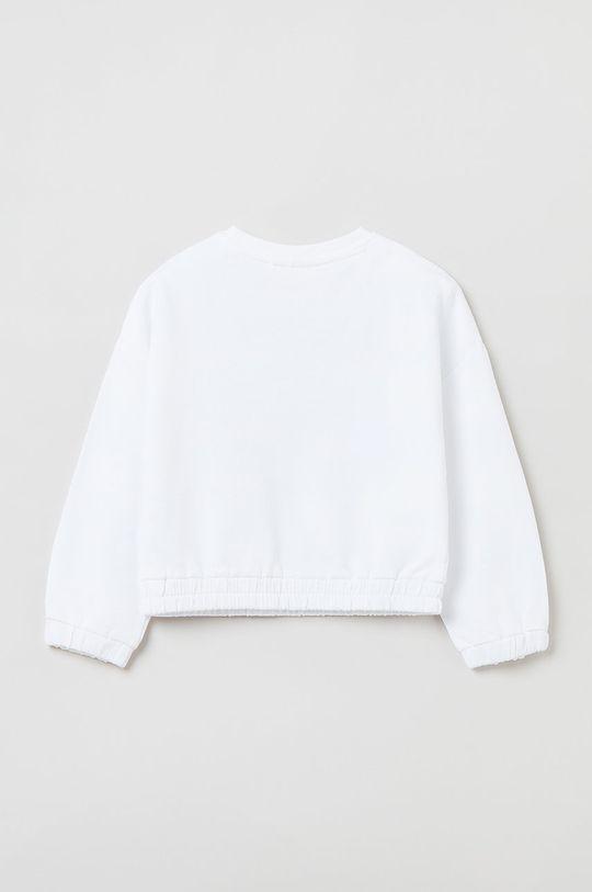 OVS - Bluza bawełniana dziecięca biały