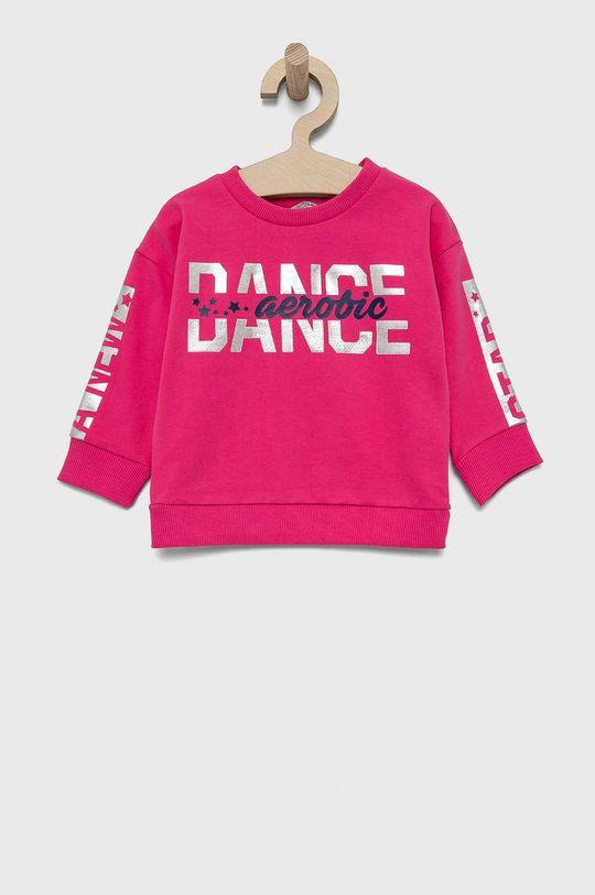 roz ascutit Birba&Trybeyond - Hanorac de bumbac pentru copii De fete