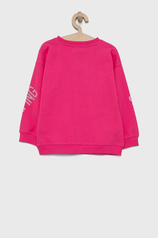 Birba&Trybeyond - Hanorac de bumbac pentru copii roz ascutit