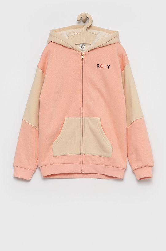 brzoskwiniowy Roxy - Bluza dziecięca Dziewczęcy