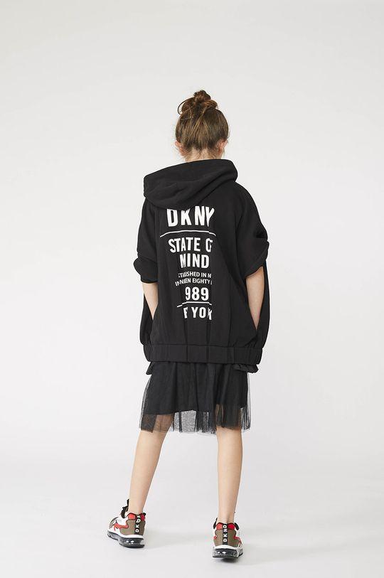 čierna Dkny - Detská bavlnená mikina Dievčenský