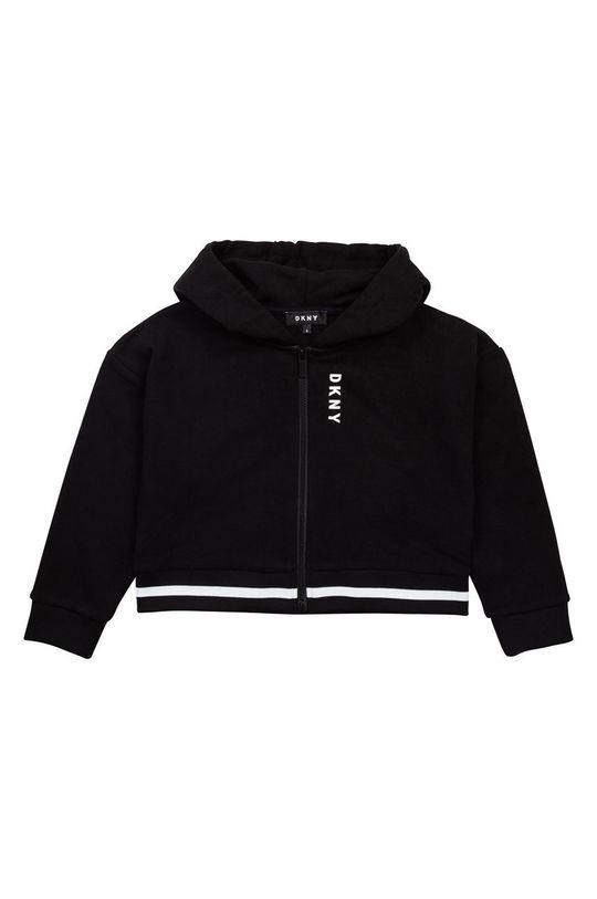 negru Dkny - Hanorac de bumbac pentru copii De fete