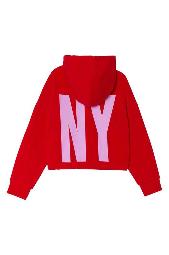 Dkny - Hanorac de bumbac pentru copii rosu ascutit