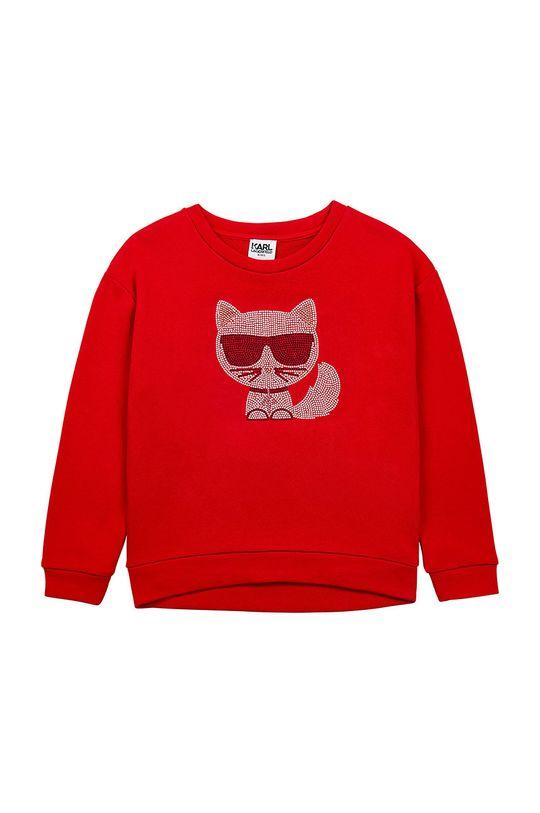 rosu Karl Lagerfeld - Hanorac de bumbac pentru copii De fete