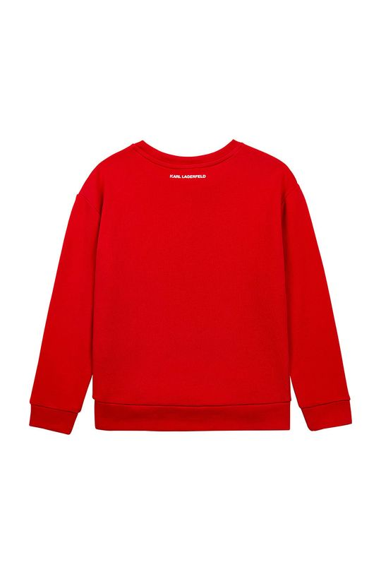 Karl Lagerfeld - Hanorac de bumbac pentru copii rosu