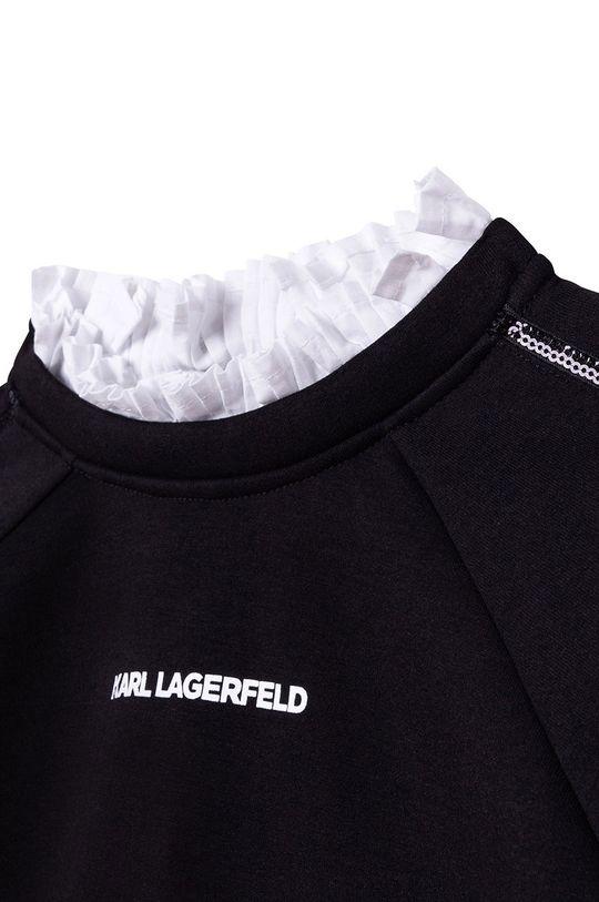 Karl Lagerfeld - Bluza copii  Materialul de baza: 4% Elastan, 72% Poliester , 24% Viscoza Finisaj: 100% Bumbac