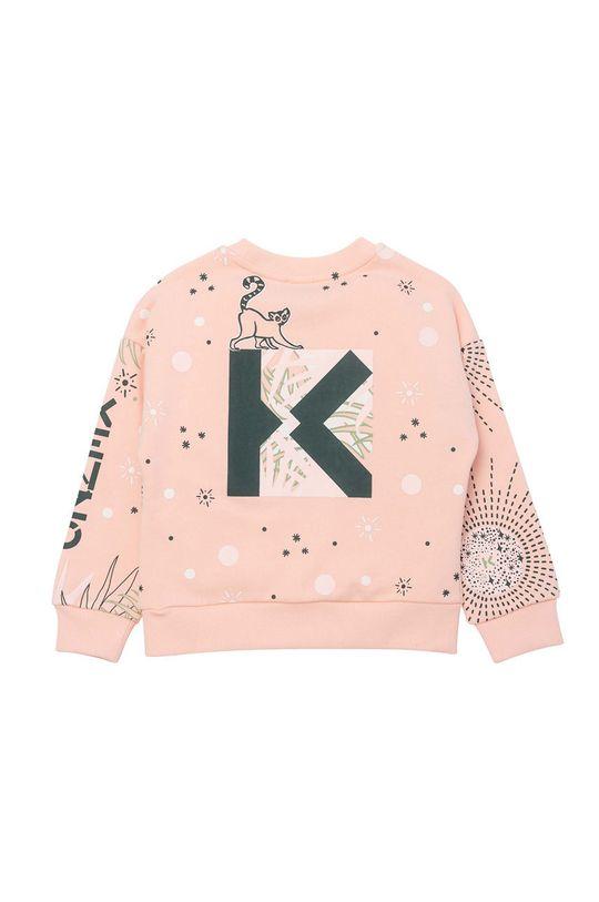 KENZO KIDS - Hanorac de bumbac pentru copii roz