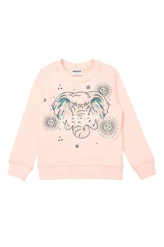 ružová KENZO KIDS - Detská bavlnená mikina Dievčenský